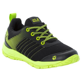 Jack Wolfskin Cascade Low-Cut Schuhe Kinder black/lime